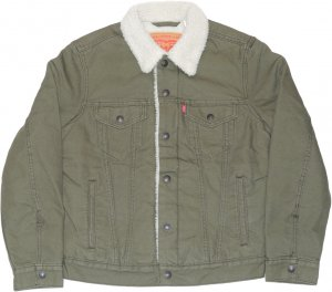 <img class='new_mark_img1' src='https://img.shop-pro.jp/img/new/icons1.gif' style='border:none;display:inline;margin:0px;padding:0px;width:auto;' />Levi's Type � Sherpa Trucker Jacket -カーキ