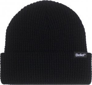<img class='new_mark_img1' src='https://img.shop-pro.jp/img/new/icons1.gif' style='border:none;display:inline;margin:0px;padding:0px;width:auto;' />Belief NYC Waffle Logo Beanie -ブラック