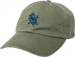 The Quiet Life Cody Script Dad Hat -オリーブ