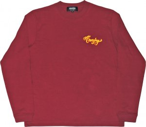 CROOZE Still Croozing Long Sleeve Tee -バーガンディー
