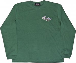 CROOZE Still Croozing Long Sleeve Tee -アイビーグリーン