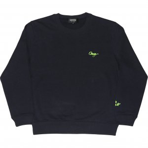 <img class='new_mark_img1' src='https://img.shop-pro.jp/img/new/icons1.gif' style='border:none;display:inline;margin:0px;padding:0px;width:auto;' />CROOZE Script Logo Crewneck -ネイビー