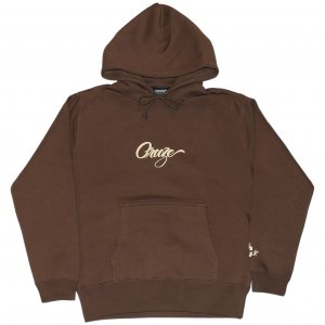 <img class='new_mark_img1' src='https://img.shop-pro.jp/img/new/icons1.gif' style='border:none;display:inline;margin:0px;padding:0px;width:auto;' />CROOZE Script Logo Hoodie -ブラウン