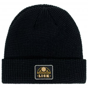 <img class='new_mark_img1' src='https://img.shop-pro.jp/img/new/icons1.gif' style='border:none;display:inline;margin:0px;padding:0px;width:auto;' />LICK NYC HEMI BRIDGE Beanie -ブラック