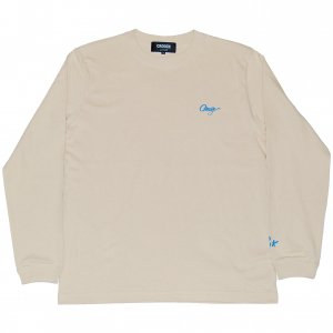 <img class='new_mark_img1' src='https://img.shop-pro.jp/img/new/icons1.gif' style='border:none;display:inline;margin:0px;padding:0px;width:auto;' />CROOZE Script Logo Long Sleeve Tee -サンドベージュ