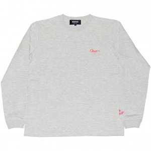 <img class='new_mark_img1' src='https://img.shop-pro.jp/img/new/icons1.gif' style='border:none;display:inline;margin:0px;padding:0px;width:auto;' />CROOZE Script Logo Long Sleeve Tee -アッシュ