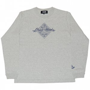 <img class='new_mark_img1' src='https://img.shop-pro.jp/img/new/icons1.gif' style='border:none;display:inline;margin:0px;padding:0px;width:auto;' />CROOZE Paisley Long Sleeve Tee -グレー