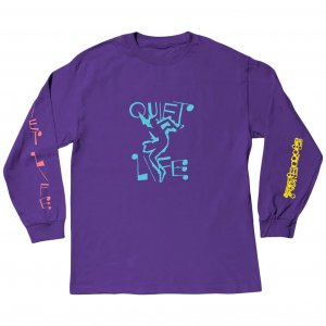 <img class='new_mark_img1' src='https://img.shop-pro.jp/img/new/icons1.gif' style='border:none;display:inline;margin:0px;padding:0px;width:auto;' />The Quiet Life Jazzy Long Sleeve Tee -パープル