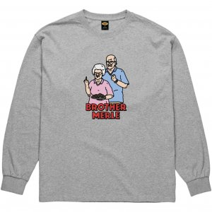 <img class='new_mark_img1' src='https://img.shop-pro.jp/img/new/icons1.gif' style='border:none;display:inline;margin:0px;padding:0px;width:auto;' />Brother Merle Betty & Norm Long Sleeve Tee -グレー