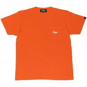 <img class='new_mark_img1' src='https://img.shop-pro.jp/img/new/icons1.gif' style='border:none;display:inline;margin:0px;padding:0px;width:auto;' />CROOZE Script Pocket Tee -オレンジ