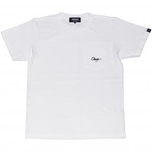 <img class='new_mark_img1' src='https://img.shop-pro.jp/img/new/icons1.gif' style='border:none;display:inline;margin:0px;padding:0px;width:auto;' />CROOZE Script Pocket Tee -ホワイト