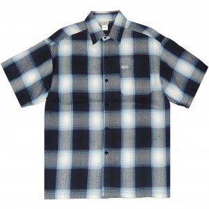 CalTop Flannel PLAID S/S Shirt -ネイビー・スカイブルー