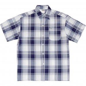 CalTop 1000 White Base Plaid S/S Shirt -ホワイト・ネイビー