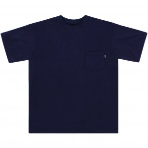 Belief NYC French Terry Pocket Tee  -ネイビー