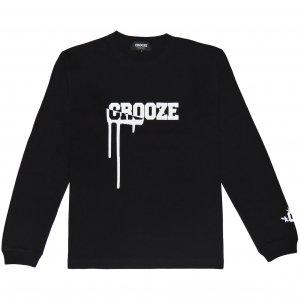 CROOZE Drip Logo Long Sleeve Tee -ブラック