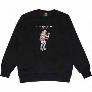<img class='new_mark_img1' src='https://img.shop-pro.jp/img/new/icons1.gif' style='border:none;display:inline;margin:0px;padding:0px;width:auto;' />Brother Merle 100% Skater Crewneck -ブラック