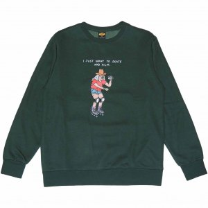<img class='new_mark_img1' src='https://img.shop-pro.jp/img/new/icons1.gif' style='border:none;display:inline;margin:0px;padding:0px;width:auto;' />Brother Merle 100% Skater Crewneck -フォレストグリーン