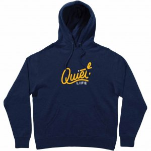 <img class='new_mark_img1' src='https://img.shop-pro.jp/img/new/icons1.gif' style='border:none;display:inline;margin:0px;padding:0px;width:auto;' />The Quiet Life City Logo Embroidered Hood -ネイビー