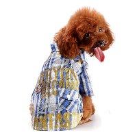 ラメプリチェックシャツ ブルー lovabledog