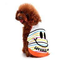 Funny Smile タンクトップ オレンジ lovabledog