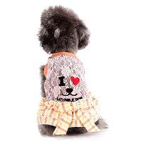 I LOVE DOG ワンピース オレンジ lovabledog