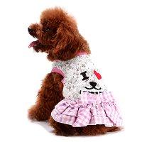 I LOVE DOG ワンピース ピンク lovabledog