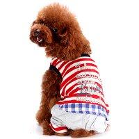 Jake マリンカバーオール レッド lovabledog