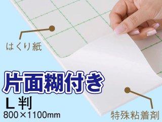 片面糊付きスチレンボード L判(800×1100mm) 5mm厚 60枚セット
