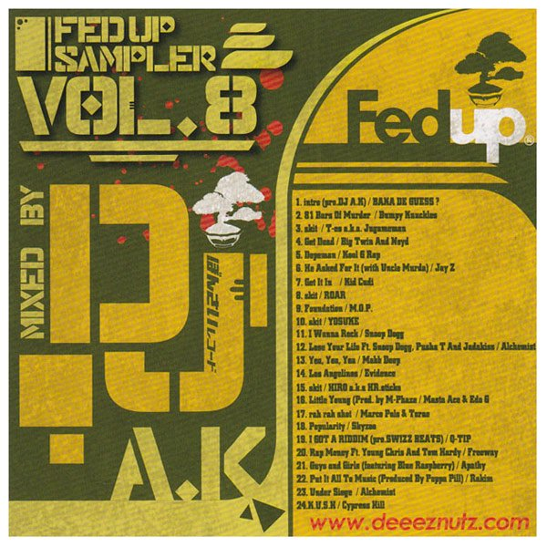 詳細画像Fedup Sampler vol.8 / Mixed by DJ A.K
