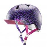bern【NINA】Stain Purple Leopard Visor