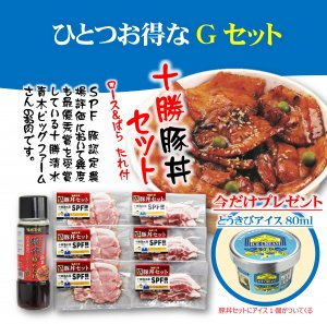 今ならお得がついてくる 十勝豚丼Gセット(冷凍商品)
