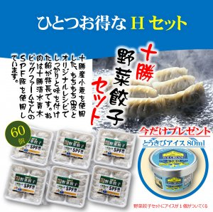 今ならお得がついてくる 十勝野菜餃子Hセット(冷凍商品)