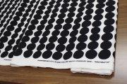 ラシィマット(Rasymatto)ホワイト/ブラック ブラック(50cm) コットンファブリック マリメッコ(marimekko)