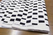 イソノッパ(ISO NOPPA)ホワイト/ブラック  コットンファブリック(50cm)マリメッコ(marimekko)0524