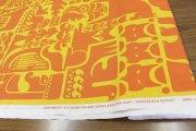カンテレーンクッツ(KANTELEENKUTSU)オレンジ コットンファブリック(50cm)マリメッコ(marimekko)0525