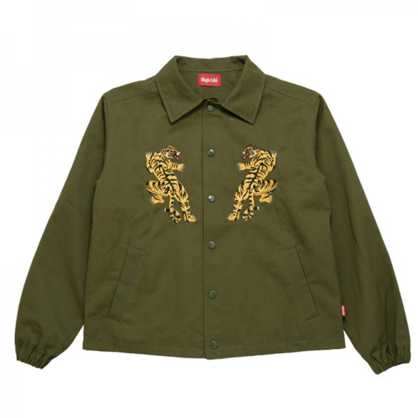 <img class='new_mark_img1' src='//img.shop-pro.jp/img/new/icons20.gif' style='border:none;display:inline;margin:0px;padding:0px;width:auto;' />HighLife / Kung fu Tiger Cotton Twill Coaches Jackets - Olive -