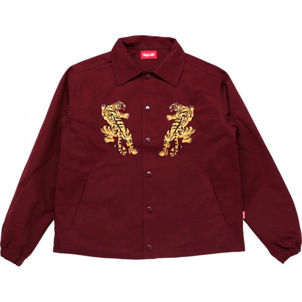 <img class='new_mark_img1' src='//img.shop-pro.jp/img/new/icons20.gif' style='border:none;display:inline;margin:0px;padding:0px;width:auto;' />HighLife / Kung fu Tiger Cotton Twill Coaches Jackets - Burgundy -