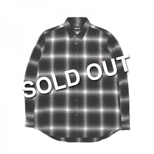 <img class='new_mark_img1' src='//img.shop-pro.jp/img/new/icons5.gif' style='border:none;display:inline;margin:0px;padding:0px;width:auto;' />HighLife / Ombre Check Flannel Shirts - Black -