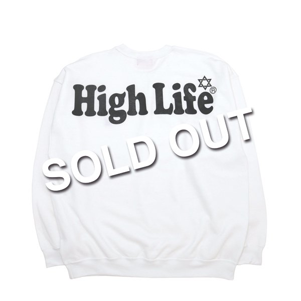 <img class='new_mark_img1' src='//img.shop-pro.jp/img/new/icons5.gif' style='border:none;display:inline;margin:0px;padding:0px;width:auto;' />HighLife Lady's / Big Logo Crewneck - White -