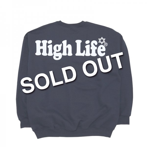 <img class='new_mark_img1' src='//img.shop-pro.jp/img/new/icons47.gif' style='border:none;display:inline;margin:0px;padding:0px;width:auto;' />HighLife Lady's / Big Logo Crewneck - Black -