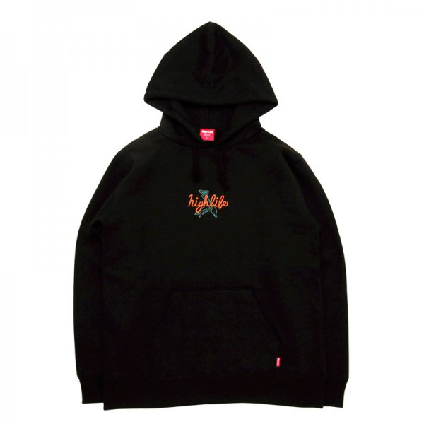 <img class='new_mark_img1' src='//img.shop-pro.jp/img/new/icons5.gif' style='border:none;display:inline;margin:0px;padding:0px;width:auto;' />HighLife / Dolphin Hoodie - Black -