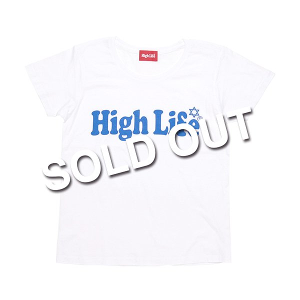 <img class='new_mark_img1' src='//img.shop-pro.jp/img/new/icons5.gif' style='border:none;display:inline;margin:0px;padding:0px;width:auto;' />HighLife Lady's / Main Logo Tee - White×Blue -