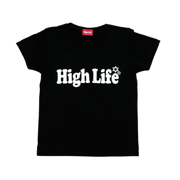 <img class='new_mark_img1' src='//img.shop-pro.jp/img/new/icons47.gif' style='border:none;display:inline;margin:0px;padding:0px;width:auto;' />HighLife Lady's / Main Logo Tee - Black -