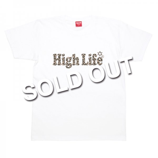 HighLife / Leopard Logo Tee - White -