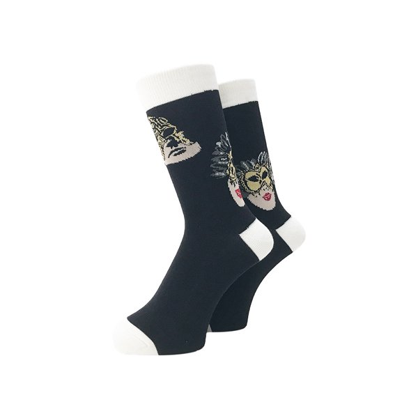 <img class='new_mark_img1' src='//img.shop-pro.jp/img/new/icons5.gif' style='border:none;display:inline;margin:0px;padding:0px;width:auto;' />Whimsy / Mask Socks - Black -