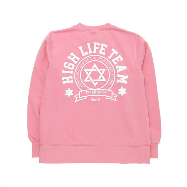 <img class='new_mark_img1' src='//img.shop-pro.jp/img/new/icons5.gif' style='border:none;display:inline;margin:0px;padding:0px;width:auto;' />HighLife / TEAM Crewneck - Pink -