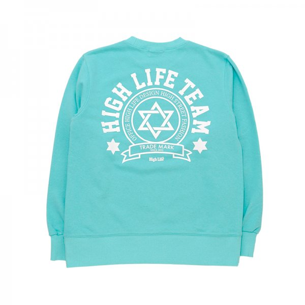 <img class='new_mark_img1' src='//img.shop-pro.jp/img/new/icons5.gif' style='border:none;display:inline;margin:0px;padding:0px;width:auto;' />HighLife / TEAM Crewneck - Mint -