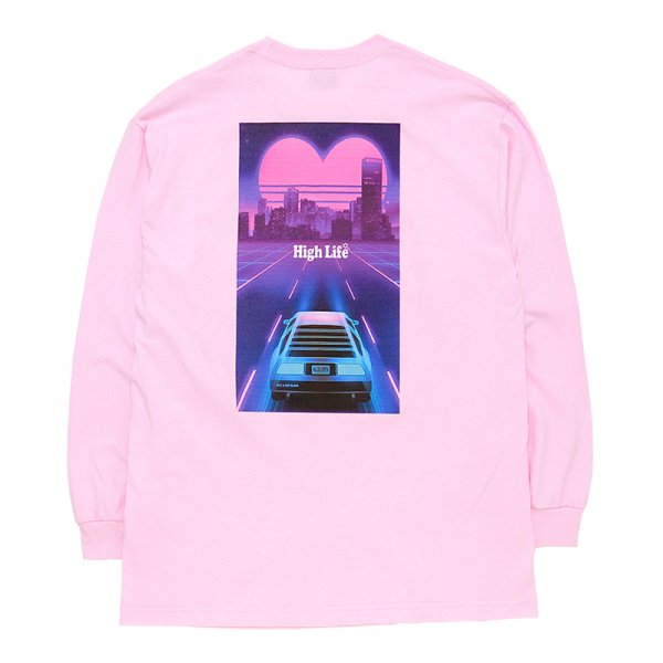 <img class='new_mark_img1' src='//img.shop-pro.jp/img/new/icons5.gif' style='border:none;display:inline;margin:0px;padding:0px;width:auto;' />HighLife / Miami Retro L/S Tee - Pink -