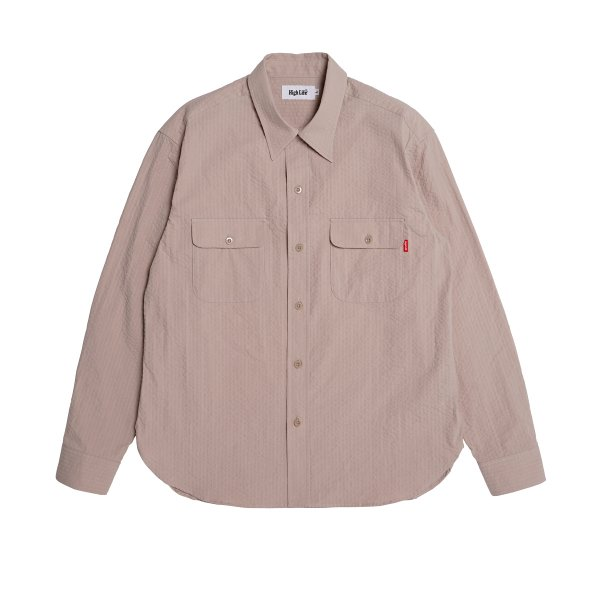 <img class='new_mark_img1' src='https://img.shop-pro.jp/img/new/icons5.gif' style='border:none;display:inline;margin:0px;padding:0px;width:auto;' />HighLife / Seersucker Work Shirts - Beige -