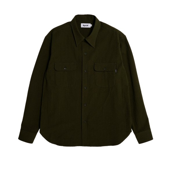 <img class='new_mark_img1' src='https://img.shop-pro.jp/img/new/icons5.gif' style='border:none;display:inline;margin:0px;padding:0px;width:auto;' />HighLife / Seersucker Work Shirts - Olive -